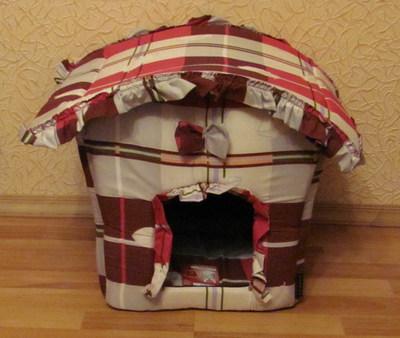 Домик будка из поролона